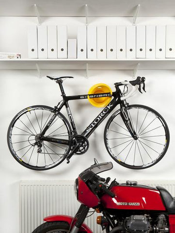 Cycloc Solo Bike Wall Rack - Yellow