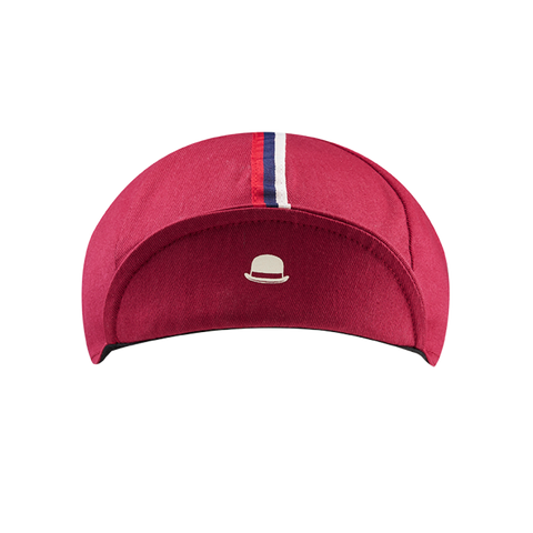 Chapeau! 3 Stripe Cotton Cap - Devon Red