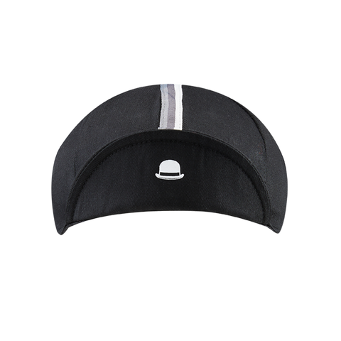 Chapeau! 3 Stripe Cotton Cap - Black