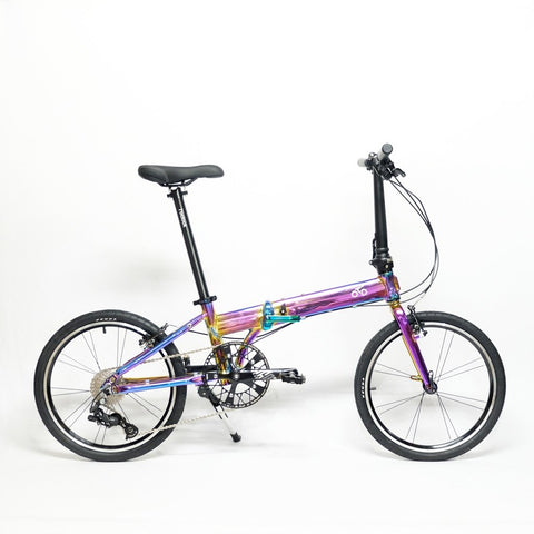 Flock OTD 20 version 2.0 - 9 Speed Folding Bike - Chrome Purple