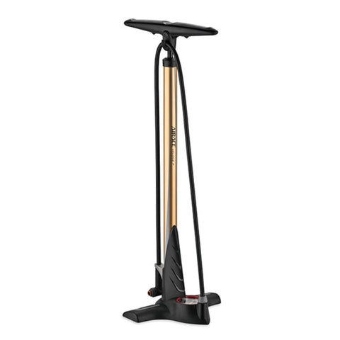 Airace Veloce P Steel Floor Pump - Gold
