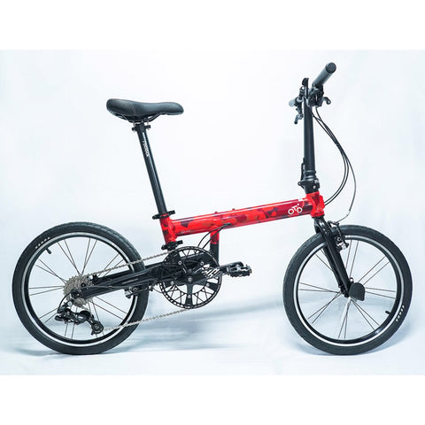 Flock OTD 20 version 2.0 - 9 Speed Folding Bike - Red Camouflage