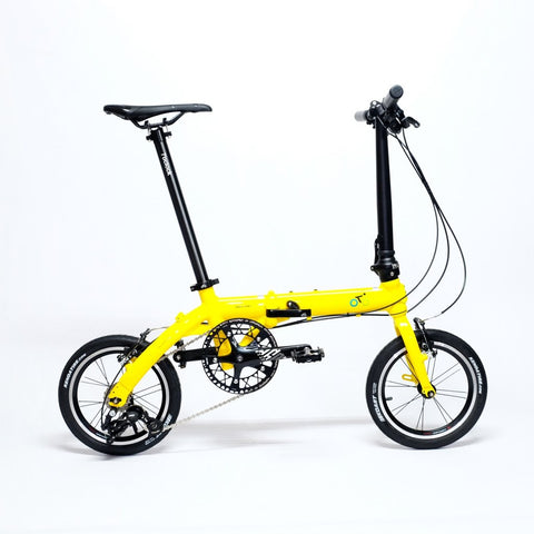 Flock OTD 14 version 1.0 - 3 Speed Folding Bike - Yellow