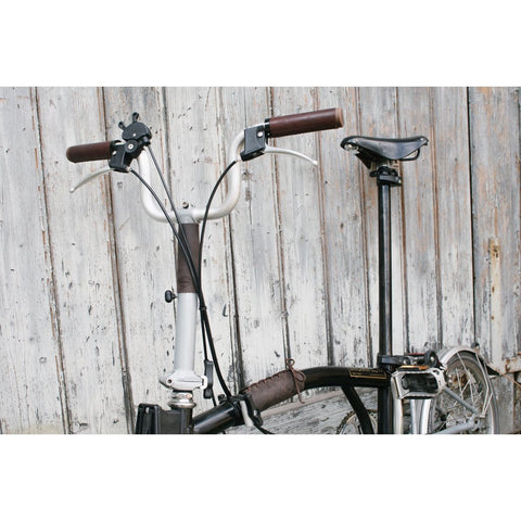 Souma Leather Brompton Frame & Stem Cover - Dark Brown