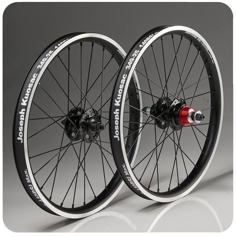 Joseph Kuosac Brompton 2 Speed Alloy Wheelset - Black Hub