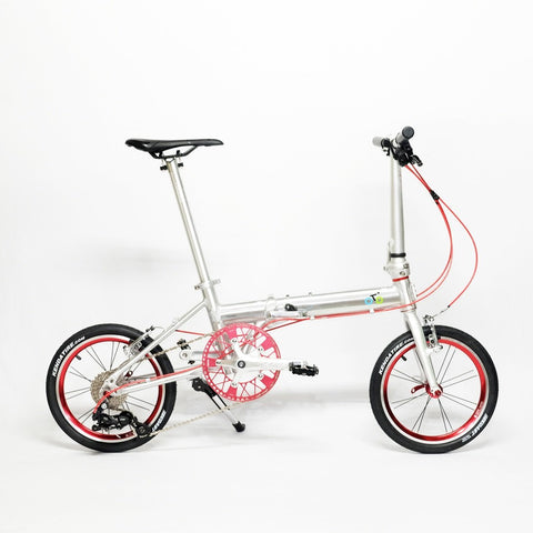 Flock OTD 16 Version 1.0 - 9 Speed Folding Bike - Silver