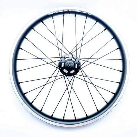 Joseph Kuosac Brompton 6 Speed Alloy Wheelset - Black Hub