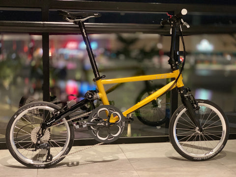 Tyrell IVE Sports Folding Bike - Golden Yellow
