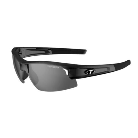 Tifosi Synapse Gloss Black Sunglasses - Smoke Polarized Lens