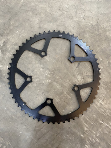 Moulton Chainring 58T BCD 130mm with AM Logo (Black)