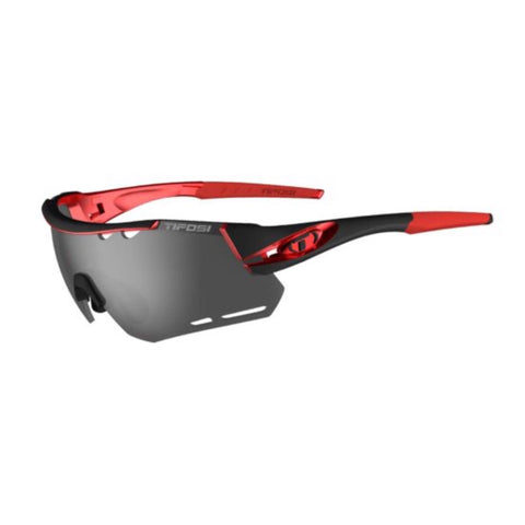 Tifosi Alliant Black/Red Sunglasses - 3 Lenses: Smoke/AC Red/Clear