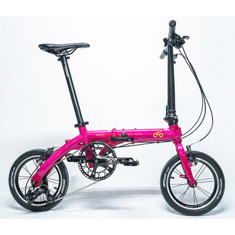 Flock OTD 14 version 1.0 - 3 Speed Folding Bike - Pink