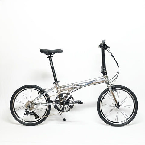 Flock OTD 20 version 2.0 - 9 Speed Folding Bike - Chrome Silver