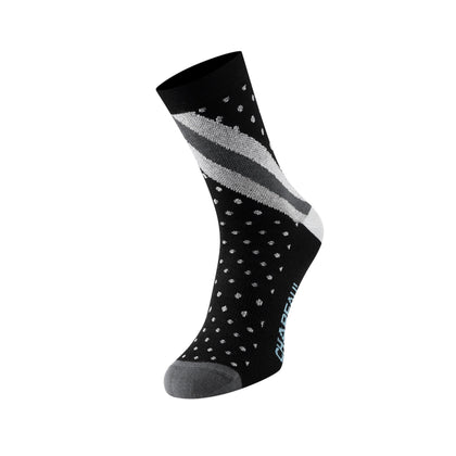 Chapeau! Lightweight Tall Sock - Black Polka Stripe