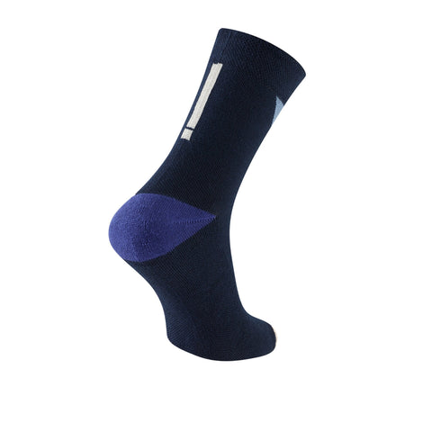 Chapeau! Midweight Block Stripe Tall Sock - Deep Ocean