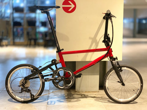 Tyrell IVE Sports Folding Bike - Candy Red/Matt Black