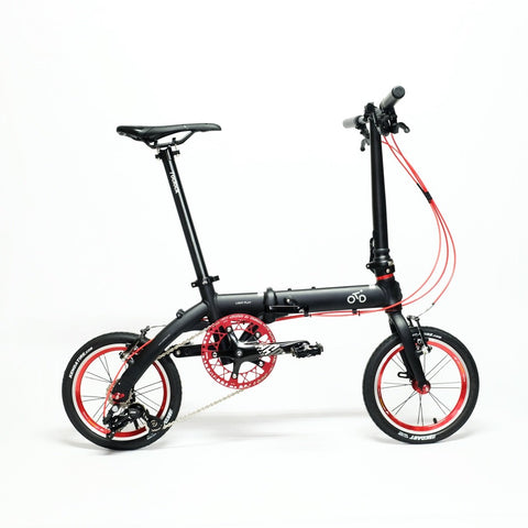Flock OTD 14 version 1.0 - 3 Speed Folding Bike - Matte Black