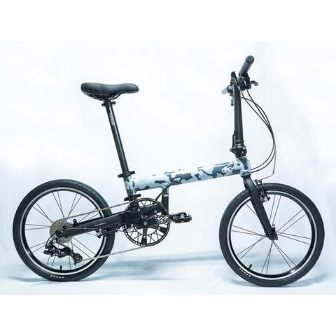Flock OTD 20 version 2.0 - 9 Speed Folding Bike - Grey Camouflage