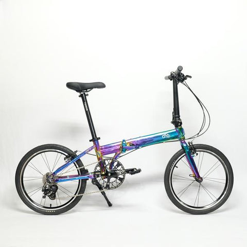 Flock OTD 20 version 2.0 - 9 Speed Folding Bike - Chrome Colorful