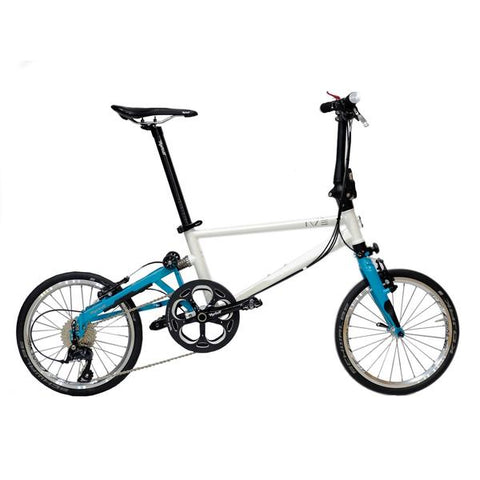 Tyrell IVE Sports Folding Bike - Pearl White/Turquoise