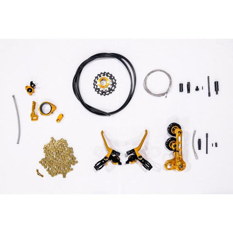 Ridea TF8SBR1-A222 Brompton 8 Speed Shifting Kit - Copper