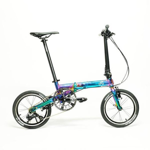 Flock OTD 16 Version 2.0 - 3 Speed Folding Bike - Chrome Colorful