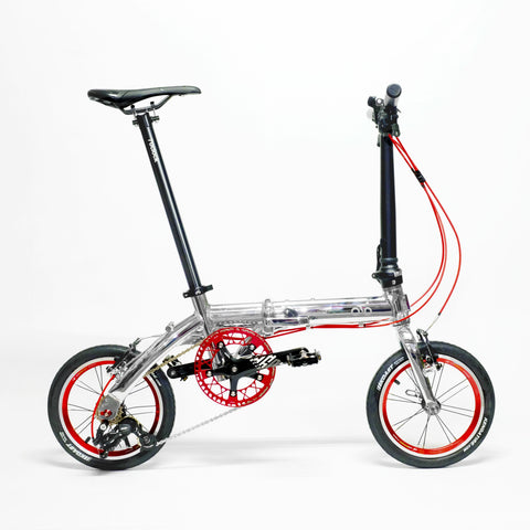 Flock OTD 14 version 1.0 - 3 Speed Folding Bike - Chrome Silver