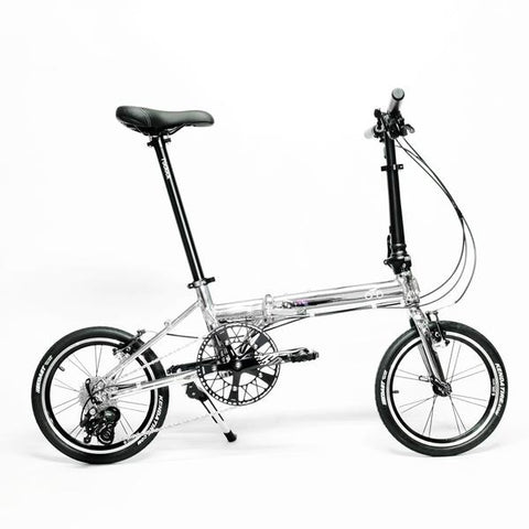 Flock OTD 16 version 2.0 - 9 Speed Folding Bike - Chrome Silver