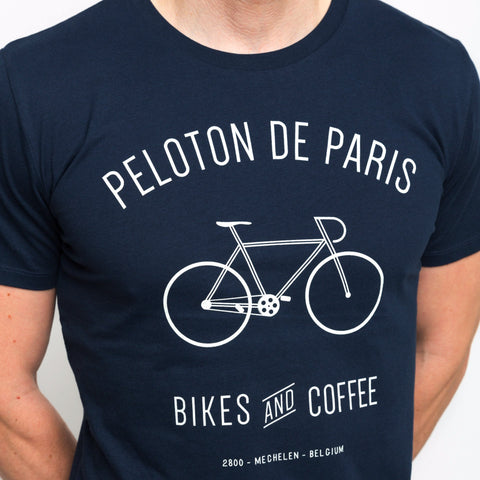 Peloton de Paris Bikes & Coffee Navy T-Shirt