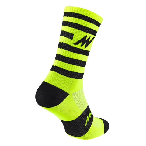 Morvelo Series Stripe Fluro Yellow Socks