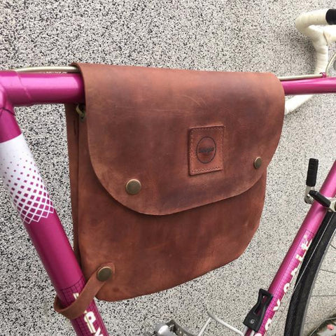 Souma Bikegab - Leather Bicycle Frame Bag/Shoulder Bag - Whiskey