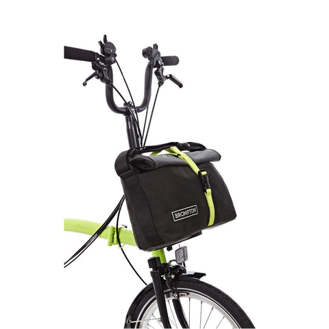 Brompton Roll Top Shoulder Bag - Grey/Black/Lime Green