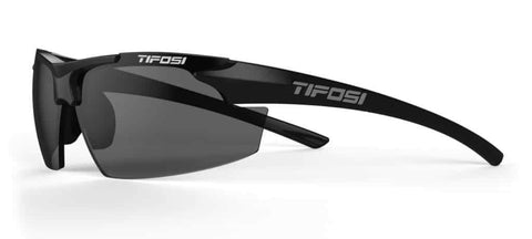 Tifosi Track Gloss Black Sunglasses - Smoke Lens