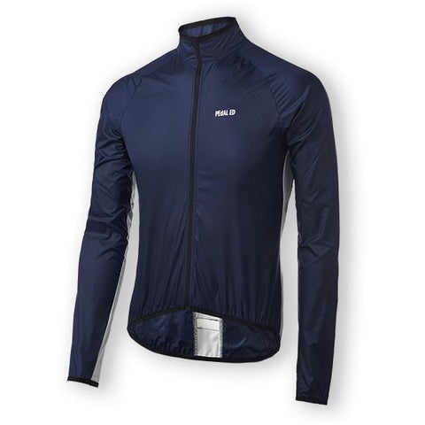 PeDAL ED Vesper Packable Jacket - Navy