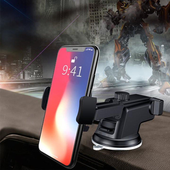 65% OFF- Wireless Automatic Sensor Car Phone Holder and Charger