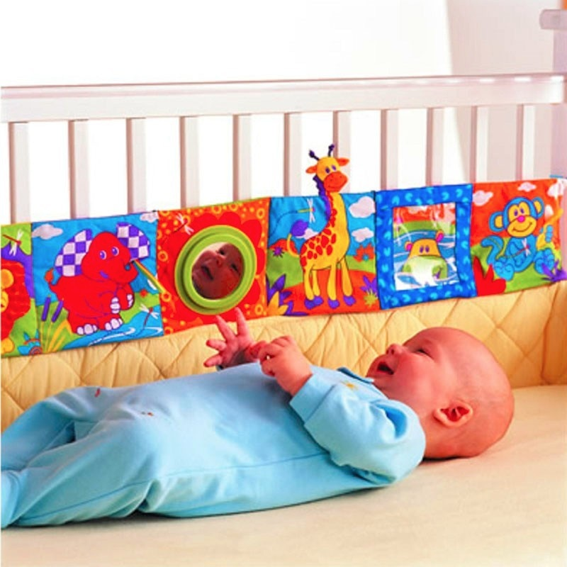 2019 Colorful Baby Bumper Cloth Book Knowledge Bed Around Crib Bed Protector Multifunction Fun Toy Bedding Sets Crib Bumper