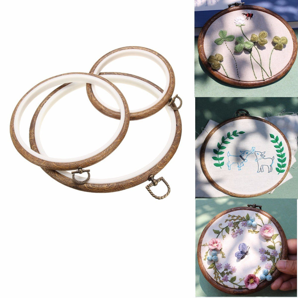 3 Pieces Vintage Embroidery Hoops