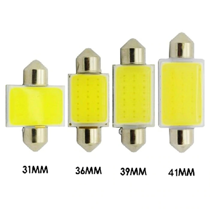 10pcs Car Interior Dome Lights COB 1.5W DC12V LED Bulbs Lamp Plate