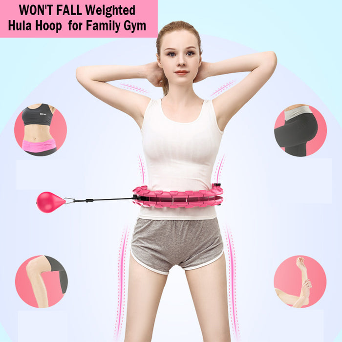 Won't Fall Weighted Hula Hoop for Home Gym