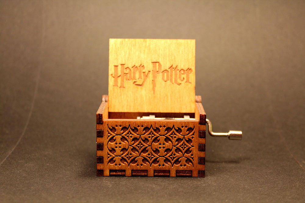 Engraved Handmade Wooden Music Box - Harry Potter
