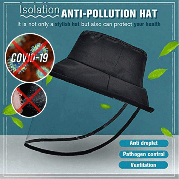 Protective Face Shield Hat Windproof with Splash-Proof Shield