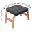 Yoga Headstand Bench Wood Stand w/ PVC Pads for Family Gym Relieve Fatigue