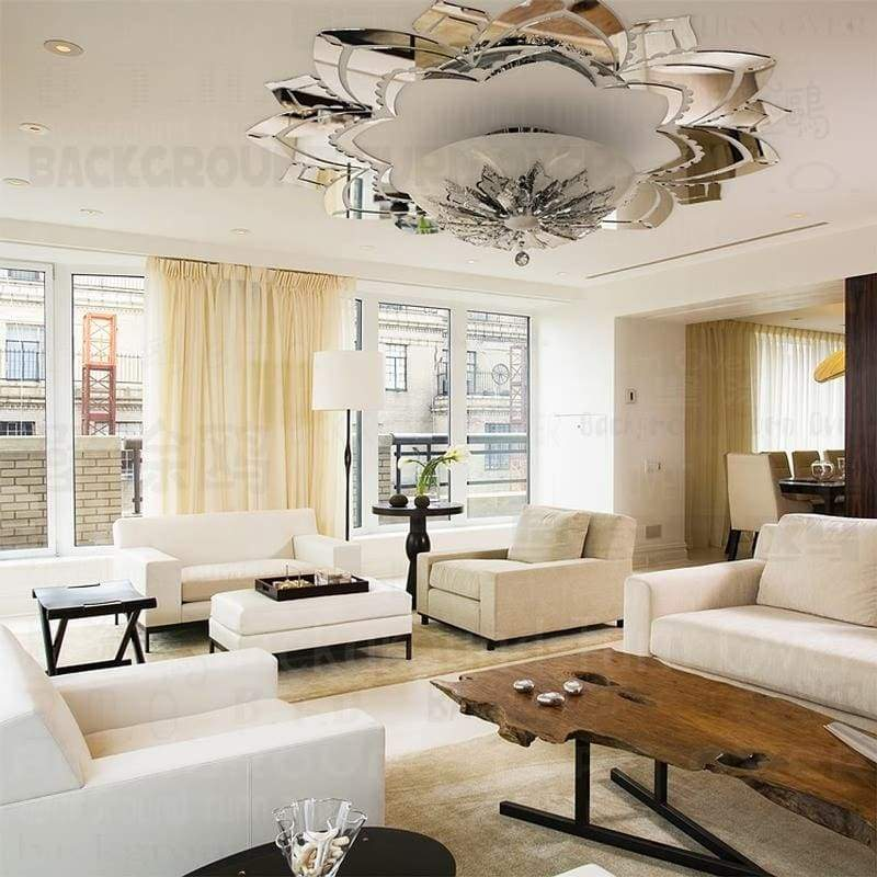 3D Acrylic Mirror Decorative Ornate Flower