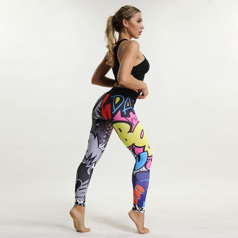 Cartoon Print Fitness Leggings