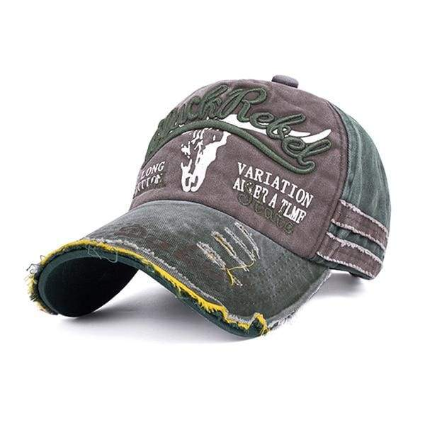 d8d7fe9298beeb Black Rebel Embroidered Baseball Cap - For Adult B