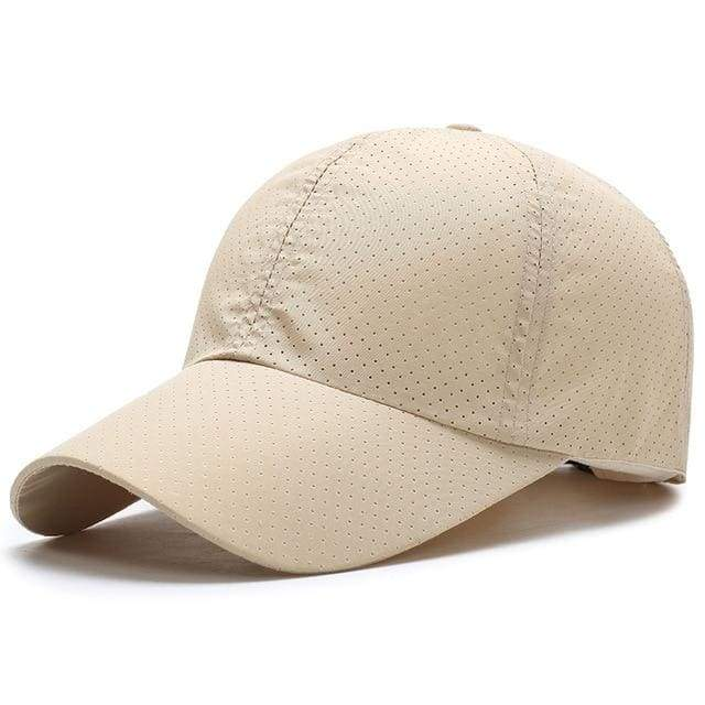 Breathable Mesh Baseball Cap - Beige