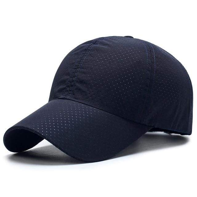 Breathable Mesh Baseball Cap - Dark Blue