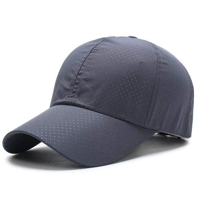Breathable Mesh Baseball Cap - Dark Gray