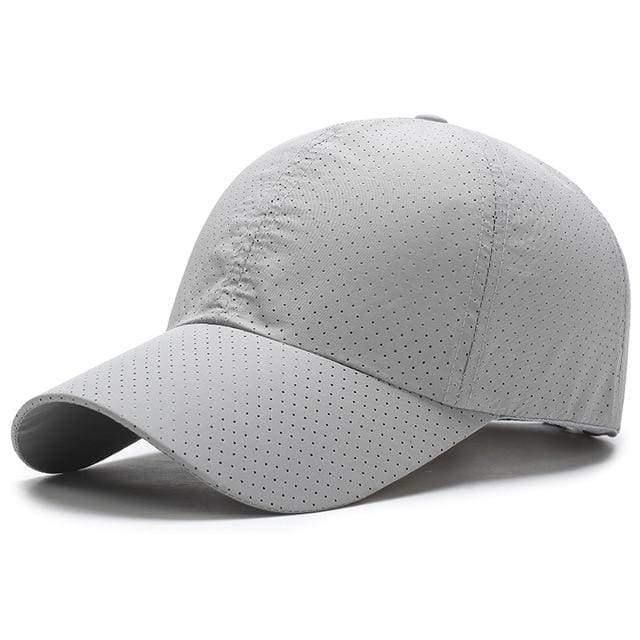 Breathable Mesh Baseball Cap - Light Gray