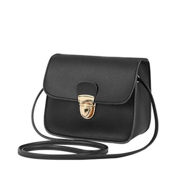 Casual PU Leather Flap Handbags - New Black